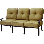Darlee Santa Monica Deep Seating Patio Sofa - Antique Bronze
