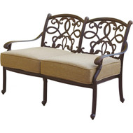 Darlee Santa Monica Deep Seating Patio Loveseat -Antique Bronze