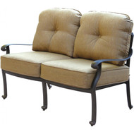 Darlee Elisabeth Deep Seating Patio Loveseat -Antique Bronze