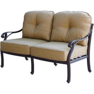 Darlee Nassau Deep Seating Patio Loveseat -Antique Bronze