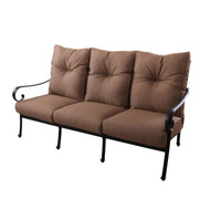 Darlee Santa Anita Deep Seating Patio Sofa -Antique Bronze