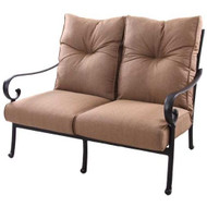 Darlee Santa Anita Deep Seating Patio Loveseat -Antique Bronze