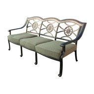 Darlee Ten Star Deep Seating Patio Sofa - Antique Bronze