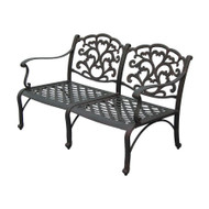Darlee Catalina Deep Seating Patio Loveseat -Antique Bronze