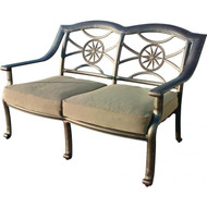 Darlee Ten Star Deep Seating Patio Loveseat -Antique Bronze