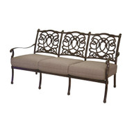 Darlee Florence Deep Seating Patio Sofa -Mocha