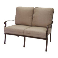 Darlee Florence Deep Seating Patio Loveseat -Antique Bronze