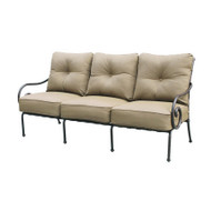 Darlee Malibu Deep Seating Patio Sofa -Antique Bronze