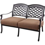 Darlee Sedona Deep Seating Patio Loveseat -Antique Bronze