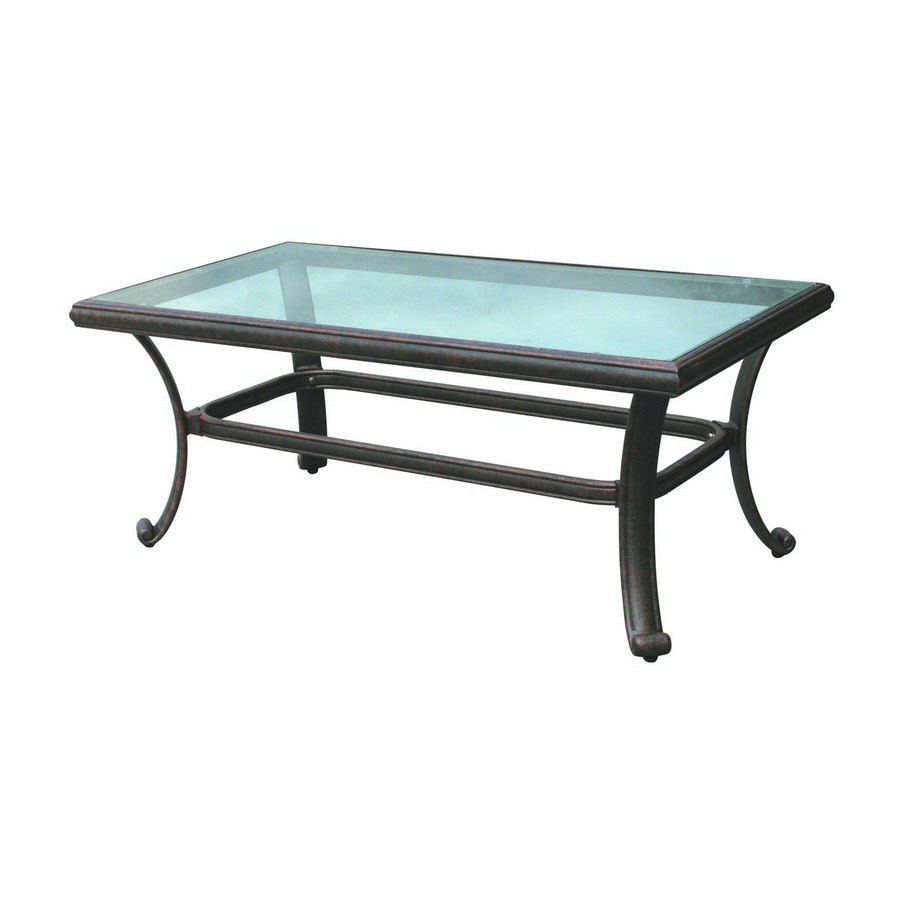 Darlee Series 50 Patio Coffee Table With Glass Top Antique Bronze