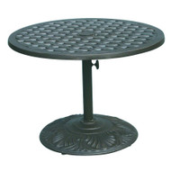 Darlee Series 30 Pedestal Patio Tea Table -Antique Bronze