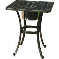 Darlee Series 30 Square Patio End Table With Ice Bucket Insert -Antique Bronze