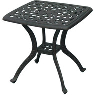 Darlee Series 80 Square Patio End Table -Antique Bronze