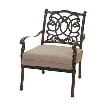 Darlee Florence Patio Club Chair Mocha San Diego Spa