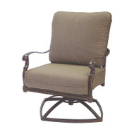Darlee Florence Patio Swivel Club Chair -Mocha