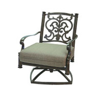 Darlee Santa Barbara Patio Swivel Club Chair -Antique Bronze
