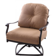 Darlee Sedona Patio Swivel Club Chair -Mocha