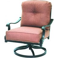 Darlee Charleston Patio Swivel Rocker Club Chair -Antique Bronze