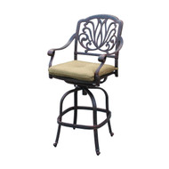 Darlee Elisabeth Swivel Bar Stool -Antique Bronze