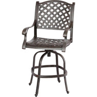 Darlee Nassau Patio Swivel Bar Stool -Antique Bronze