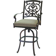 Darlee Santa Barbara Patio Bar Stool - Antique Bronze
