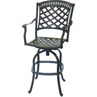 Darlee Sedona Swivel Bar Stool - Antique Bronze