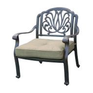 Darlee Elisabeth Deep Seating Patio Lounge Chair - Antique Bronze