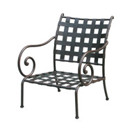 Darlee Malibu Patio Club Chair -Antique Bronze