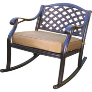 Darlee Nassau Classic Club Rocker Chair -Antique Bronze