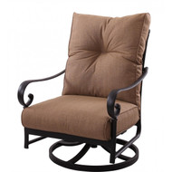 Darlee Santa Anita Patio Swivel Rocker Club Chair -Antique Bronze