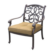 Darlee Santa Monica Patio Club Chair -Antique Bronze