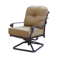 Darlee Santa Monica Patio Swivel Rocker Club Chair -Antique Bronze