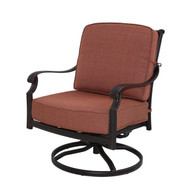 Darlee St. Cruz Patio Swivel Rocker Club Chair -Antique Bronze