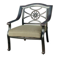 Darlee Ten Star Patio Club Chair -Antique Bronze
