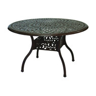 "Darlee Series 60 Round Patio Dining Table 48"" -Antique Bronze"