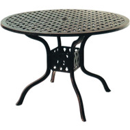 "Darlee Series 30 Round Patio Dining Table 42"" -Antique Bronze"