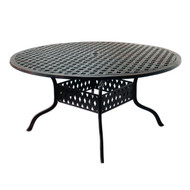 "Darlee Series 30 Round Patio Dining Table 60"" -Antique Bronze"