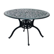 "Darlee Series 80 Round Patio Dining Table 48"" -Antique Bronze"