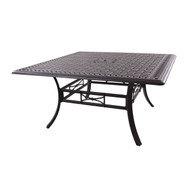 """Darlee Series 88 Square Patio Dining Table 60"""" -Antique Bronze"""