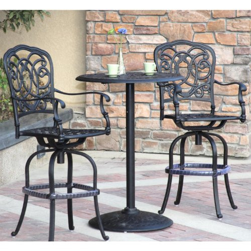Darlee Florence Patio Furniture Bar Set Seats 2 San