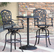 Darlee Florence Patio Furniture Bar Set -Seats 2