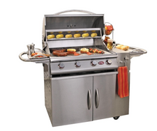 "Cal Flame G4 30"" Grill and Cart"