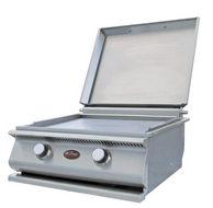 Cal Flame Stainless Steel Hibachi Griddle w/ Removable Cover