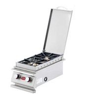 Cal  Flame Stainless Steel Deluxe Double Side Burner