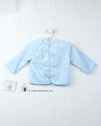 Three Sisters Baby Blue Fleece Hooded Jacket
