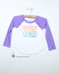 Chaser Big Sister Love Baseball Tee