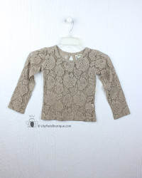 Little Prim Beige Lilly Top