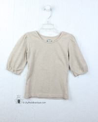 Little Prim Beige Inga Top