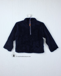 Southbound Navy Sherpa Pullover
