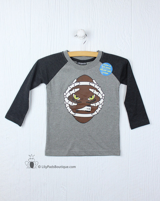Globaltex Glow in the Dark Football Skeleton Raglan Tee